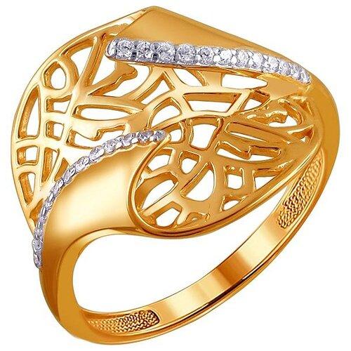 Эстет Кольцо с 24 фианитами из красного золота 01К1110512, размер 17 ЭСТЕТ