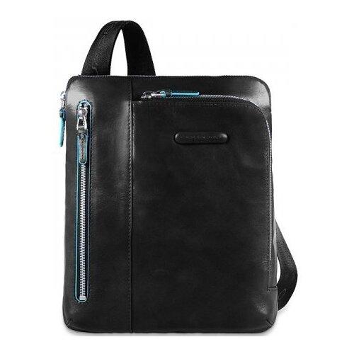 сумка планшет piquadro натуральная кожа табачный Сумка планшет PIQUADRO, натуральная кожа, nero