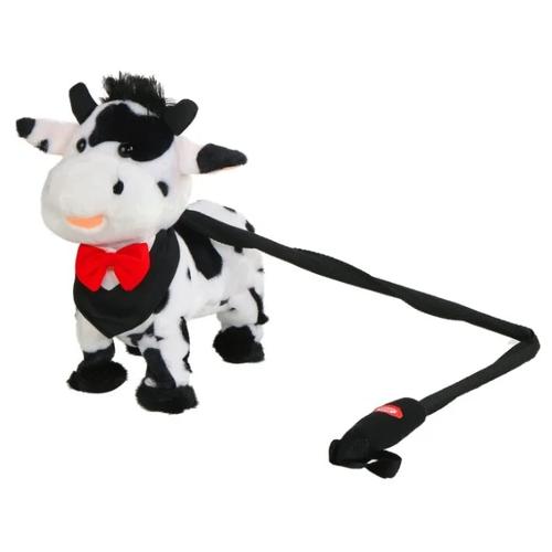 Фото - Мягкая игрушка Пушистые друзья Корова на жестком поводке белая 25 см кмит елена пушистые друзья барашек бяша
