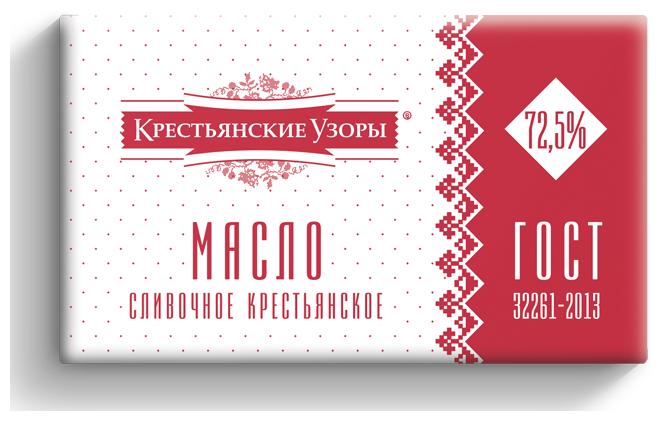Крестьянские узоры Масло сливочное Крестьянское 72.5%, 400 г