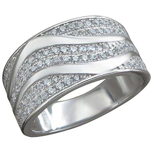 Эстет Кольцо с фианитами из серебра Т4К152100026, размер 19