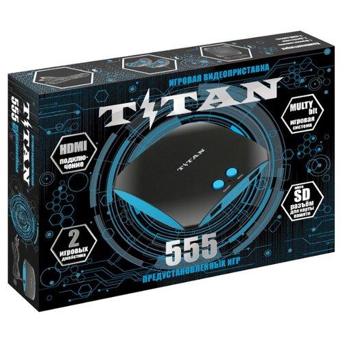 Игровая приставка SEGA Magistr Titan (555 игр) черный/голубой