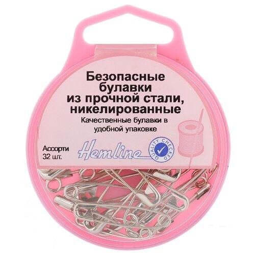 Купить Набор булавок Hemline 410.99 для шитья, серебристый, 32 шт., 30 г, Иглы