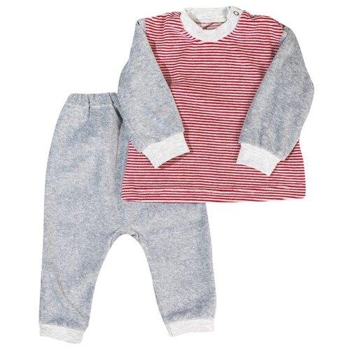 Купить Комплект одежды Клякса размер 24-80, серый/красный, Комплекты