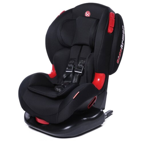 Автокресло группа 1/2 (9-25 кг) Baby Care BC-120 Isofix, черный автокресло группа 1 2 3 9 36 кг little car ally с перфорацией черный