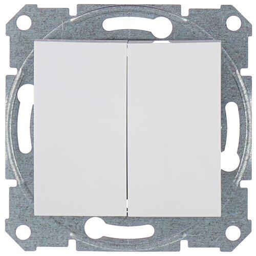 Выключатель 2х1-полюсный Schneider Electric SEDNA SDN0300121,10А, белый фото