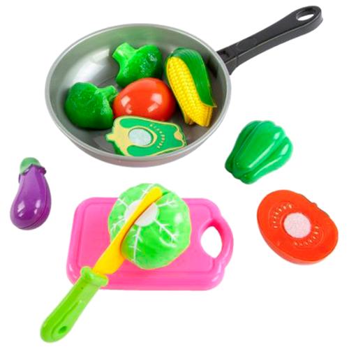цена Набор продуктов с посудой Mary Poppins Овощи в сковороде 453045 серый/розовый/зеленый онлайн в 2017 году