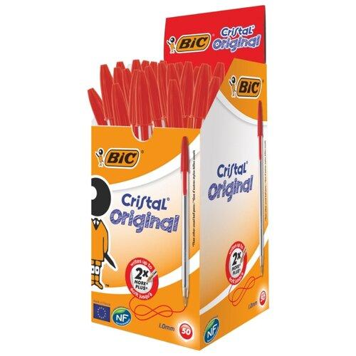 BIC Набор шариковых ручек Cristal Original, 1 мм (875976/847899/847898/847897), красный цвет чернил