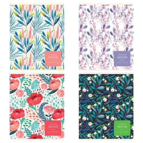 Купить Greenwich Line Упаковка тетрадей Flower mood N5c48-26498 5 шт./4 дизайна, клетка, 48 л., Тетради