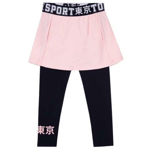 Купить Леггинсы playToday Sport kids girls 120225017 размер 98, темно-синий/светло-розовый, Брюки