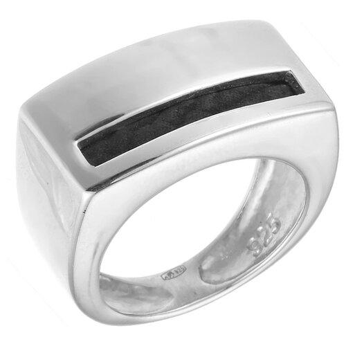 JV Кольцо с кожей из серебра R100894-BKJ-WG, размер 18