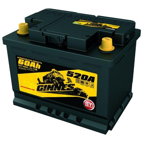 Автомобильный аккумулятор GINNES ST 6CT-60.1 ёмкость 60 Ач полярность 1 прямая