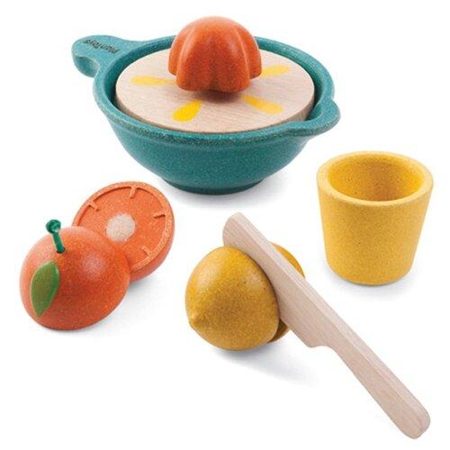Набор продуктов с посудой PlanToys Соковыжималка 3610 оранжевый/желтый/зеленый шторы рулонные ролло идея рулонная штора ролло lux samba цветы зеленый оранжевый желтый 160 см