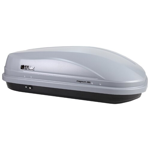 Багажный бокс на крышу Евродеталь Магнум 350 (350 л) серый карбон