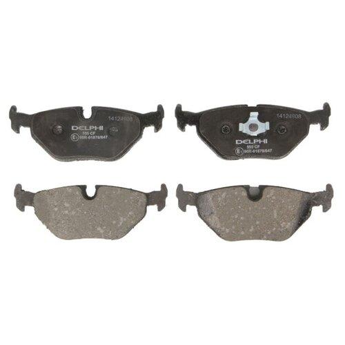 Дисковые тормозные колодки задние DELPHI LP555 для BMW 7 series, BMW 5 series, BMW M5, BMW Z3 (4 шт.) фото