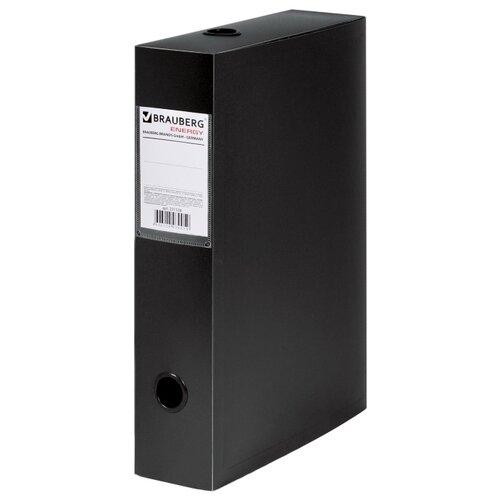 BRAUBERG Короб архивный Energy А4, пластик 70 мм черный короб архивный вырубная застежка бюрократ ba80 08blck пластик 0 8мм корешок 80мм 330х245мм черный