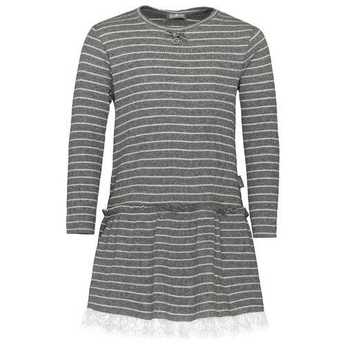 Платье Gulliver размер 128, серый