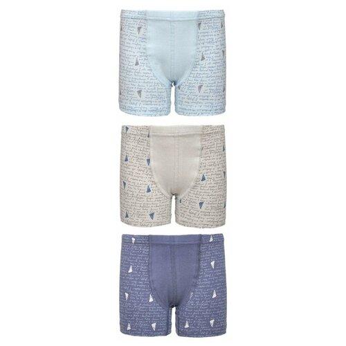 Купить Трусы BAYKAR 3 шт., размер 122/128, голубой/синий/бежевый, Белье и пляжная мода