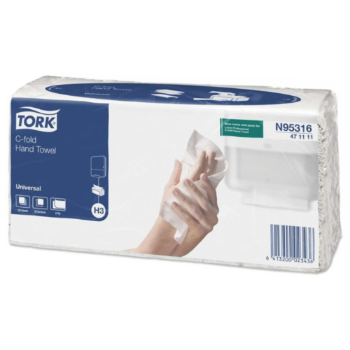 цена Полотенца бумажные TORK Universal c-fold 471111 120 л. онлайн в 2017 году