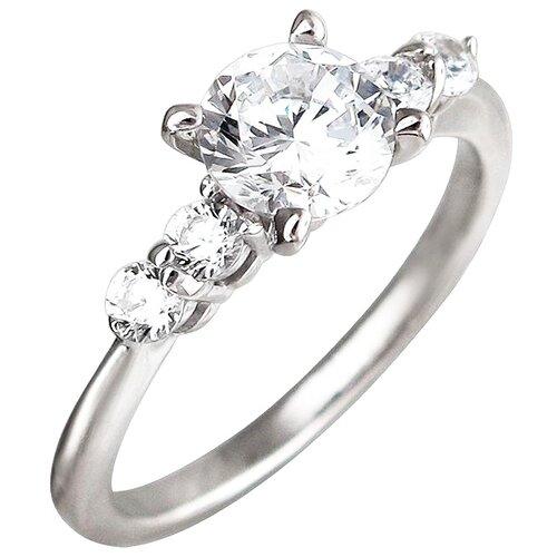Эстет Кольцо с 5 фианитами из серебра 01К1510414, размер 17 эстет кольцо с фианитами из серебра 01к2511684 2 размер 17 5