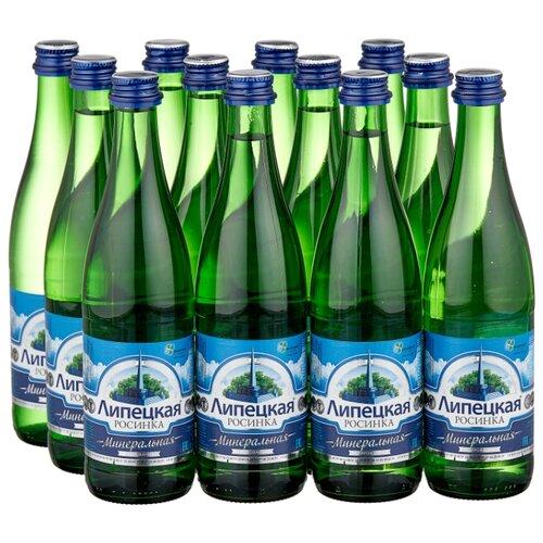 Вода минеральная природная питьевая лечебно-столовая Липецкая газированная, стекло, 12 шт. по 0.5 л минеральная природная вода jermuk газированная алюминиевая банка 12 шт по 0 33 л