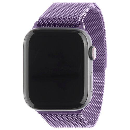 Ремешок MESH для Apple Watch 38mm&40mm, сталь, светло-фиолетовый carcam ремешок для apple watch 38mm sport band фиолетовый