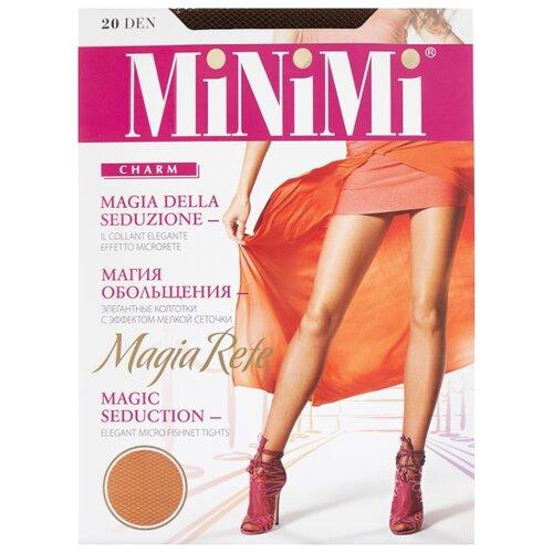 Колготки MiNiMi Magia Rete 20 den, размер 4-L, cappuccino (коричневый) колготки minimi linea charme 20 den размер 4 l cappuccino коричневый