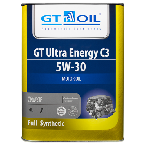 Синтетическое моторное масло GT OIL GT Ultra Energy C3 5W-30, 4 л по цене 2 502
