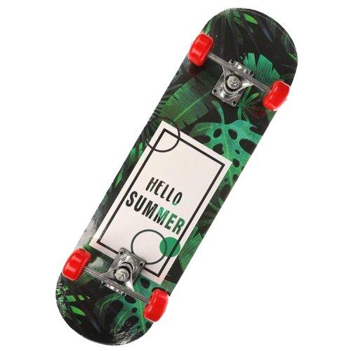 Скейтборд Наша игрушка 636149 зеленый скейтборд pwsport classic цвет розовый зеленый дека 22