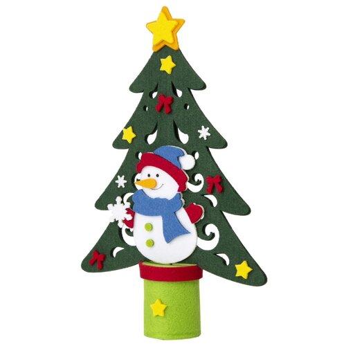 Фото - Фигурка Феникс Present Елка со снеговиком 34 см зеленый фигурка феникс present дедушка мороз 26 см белый голубой красный