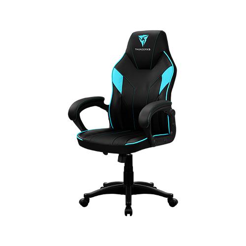 Компьютерное кресло ThunderX3 Кресло компьютерное ThunderX3 EC1 Black-Cyan AIR игровое, обивка: искусственная кожа, цвет: black/cyan кресло компьютерное игровое thunderx3 tgc12 bg черный зеленый 4710700959572
