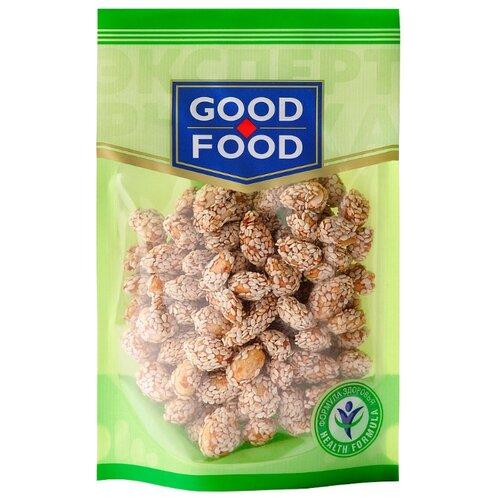 Арахис GOOD FOOD жареный с медом и кунжутом, пластиковый пакет 130 г конфеты good food марципановое пралине пакет 200 г