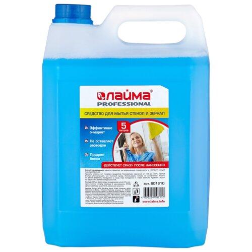 Жидкость Лайма Professional для мытья стекол и зеркал, 5 л недорого