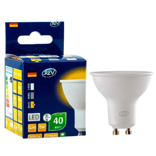Фото - Лампа светодиодная REV 32328 0 420 Лм, GU10, JCDRC, 5Вт лампа светодиодная led e27 8 5вт 220v 2700к rev
