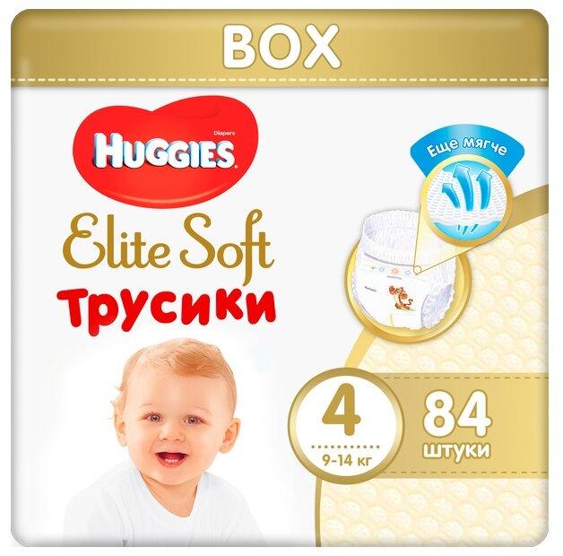 Huggies Elite Soft трусики 4 (9-14 кг) 84 шт. — купить по выгодной цене на Яндекс.Маркете