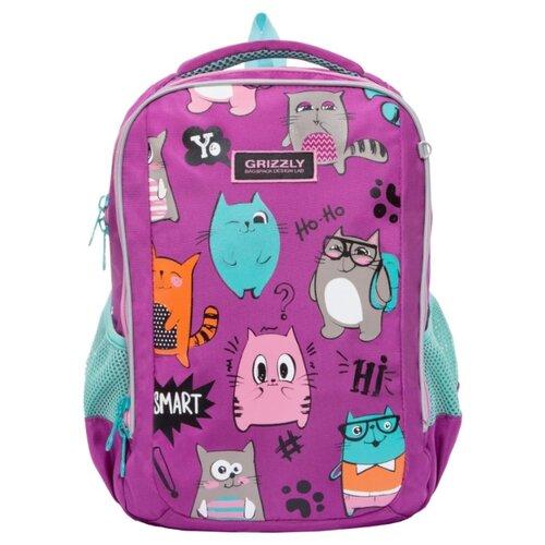 Купить Grizzly рюкзак RG-969-2, фиолетовый, Рюкзаки, ранцы