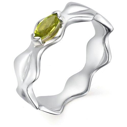 АЛЬКОР Кольцо с 1 хризолитом из серебра 01-0503-00ХР-00, размер 18 алькор кольцо с хризолитом и фианитами из серебра 01 0538 00хр 00 размер 18