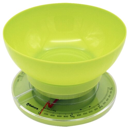 Кухонные весы Sakura SA-6008 зеленый