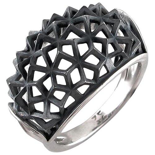 Эстет Кольцо из чернёного серебра 01К0510094Ч, размер 17