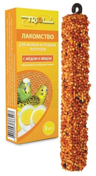 Лакомство для птиц Triol Standard с медом и яйцом для мелких и средних попугаев