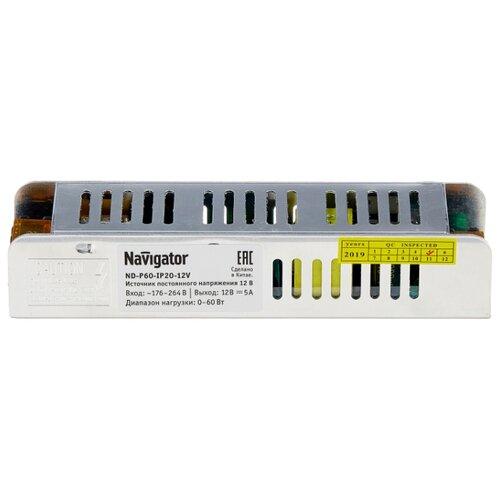 Блок питания Navigator ND-P60-IP20-12V блок питания драйвер navigator 71 462 nd e12 ip20 12v