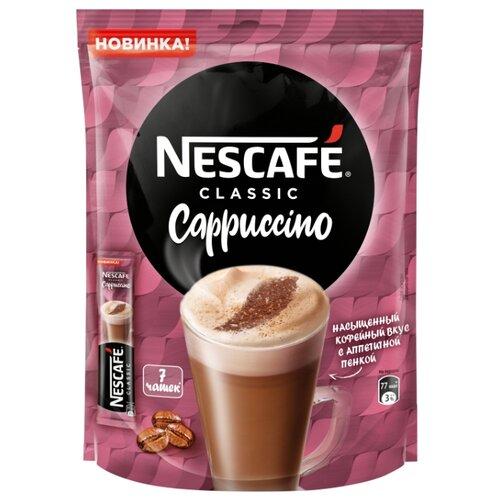 Растворимый кофе Nescafe Classic Cappuccino, в стиках (7 шт.) растворимый кофе nescafe 3 в 1 крепкий в стиках 20 шт