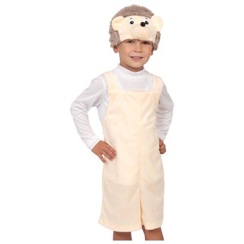 Купить Костюм КарнавалOFF Ёжик плюш (3072), бежевый, размер 92-122, Карнавальные костюмы