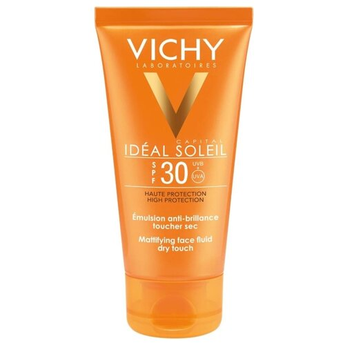 Vichy эмульсия Capital Ideal Soleil Mattifying Face Dry Touch, SPF 30, 50 мл масло виши vichy spf 50