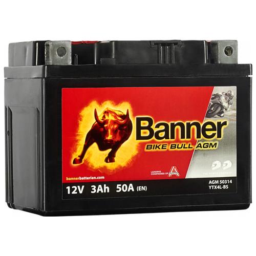 Мото аккумулятор Banner Bike Bull AGM 503 14 / YTX4L-BS