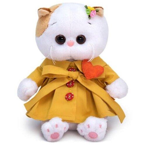 Купить Мягкая игрушка Basik&Co Кошка Ли-Ли baby в плаще и с сердечком 20 см, Мягкие игрушки