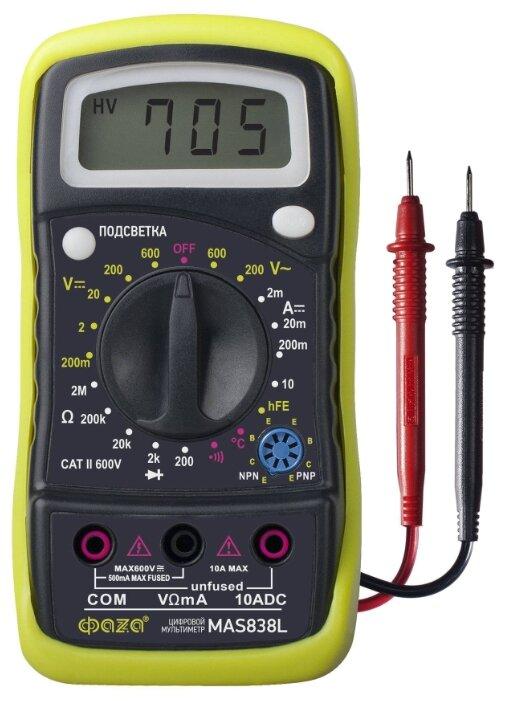 Купить Мультиметр цифровой ФАZA MAS838L по низкой цене с доставкой из Яндекс.Маркета
