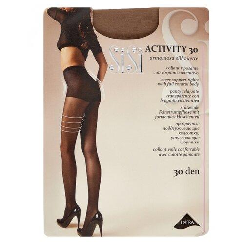 Колготки Sisi Activity 30 den, размер 5-MAXI XL, miele (коричневый) колготки sisi activity 70 den размер 5 maxi xl daino коричневый