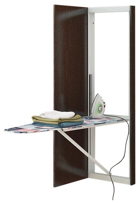 Купить Панель с зеркалом со встроенной гладильной доской Трия Тип-1 (Венге Цаво) по низкой цене с доставкой из Яндекс.Маркета