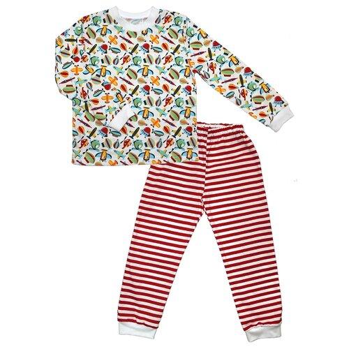 Пижама Веселый Малыш размер 98, мультиколор пижама веселый малыш размер 74 зеленый